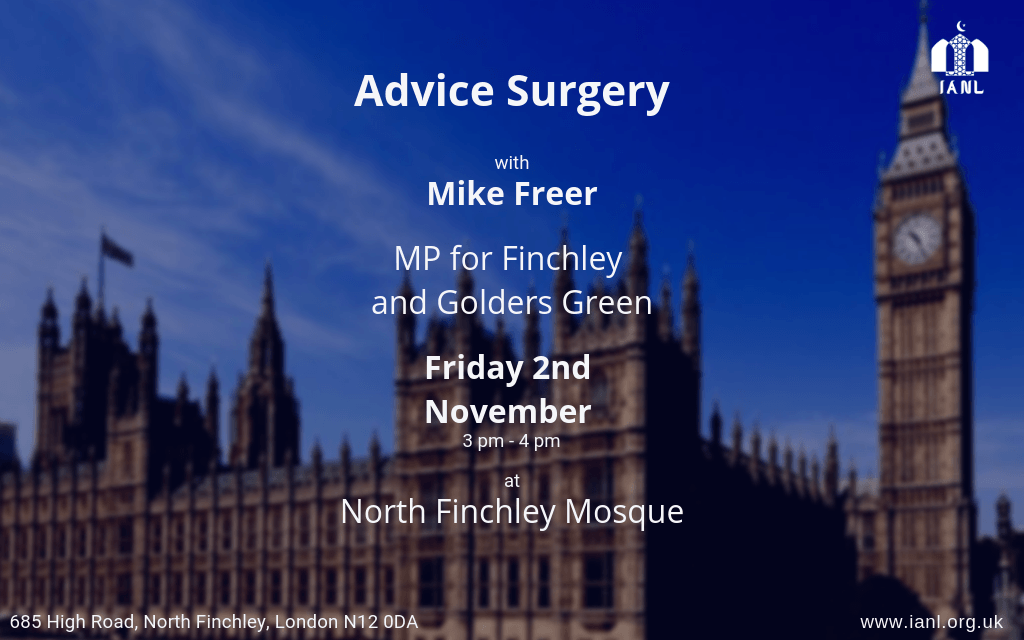 Advice Surgery – Mike Freer MP