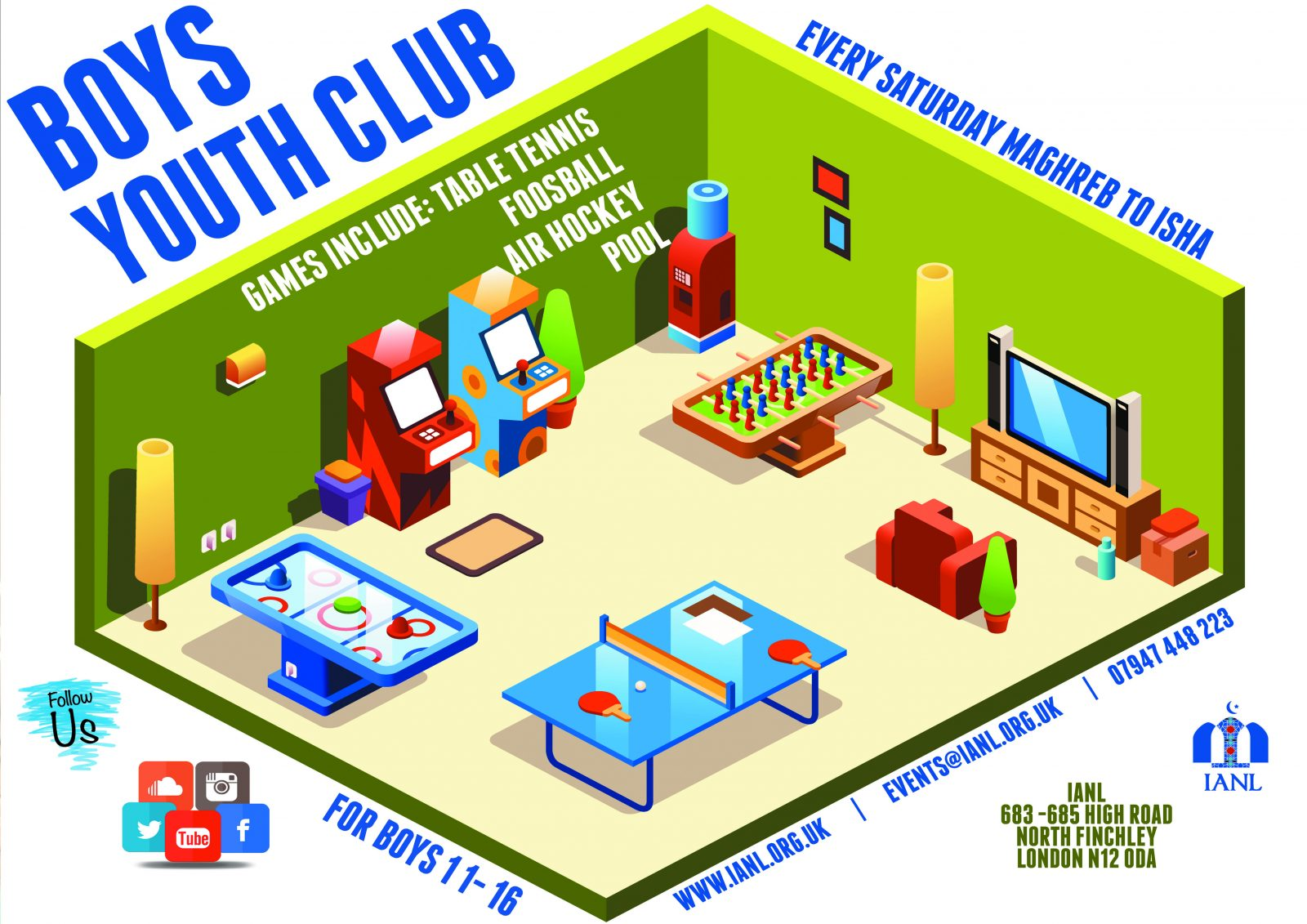 Boys Youth Club – Every Saturday