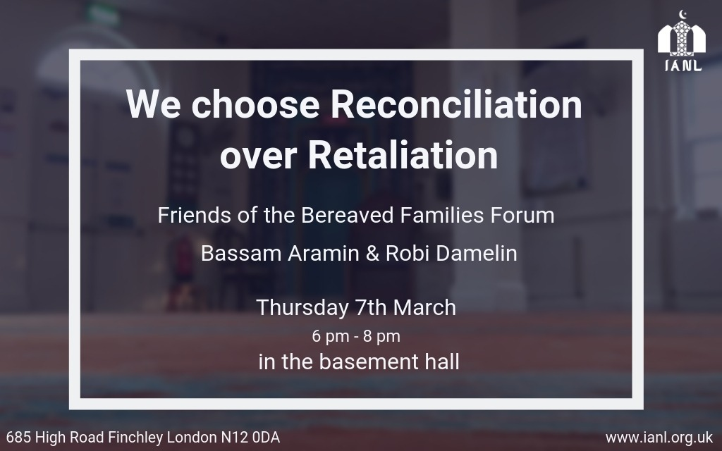 We Choose Reconciliation Over Retaliation