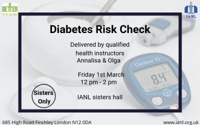 Diabetes Risk Check – 1st March